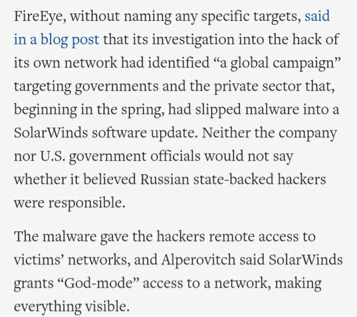 FireEye, without naming any specific targets, said in a blog post that its investigation into the ha